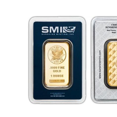 1 Oz Sunshine Mint Gold Bars Cornerstone Bullion Your