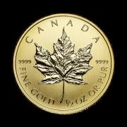 half-oz-canadian-gold-maple-leaf-coin-back