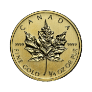 quarter-oz-canadian-gold-maple-leaf-coin-back