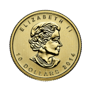 quarter-oz-canadian-gold-maple-leaf-coin-front