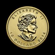 quarter-oz-canadian-gold-maple-leaf-coin-front