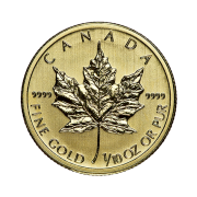 tenth-oz-canadian-gold-maple-leaf-coin-back