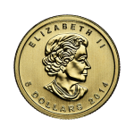 tenth-oz-canadian-gold-maple-leaf-coin-front